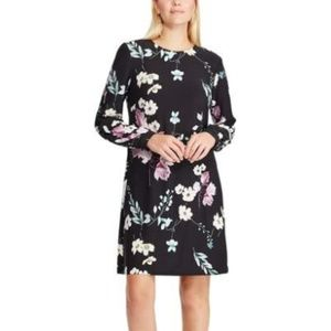 CHAPS – NWT Stretch-knit floral a-line dress, Med